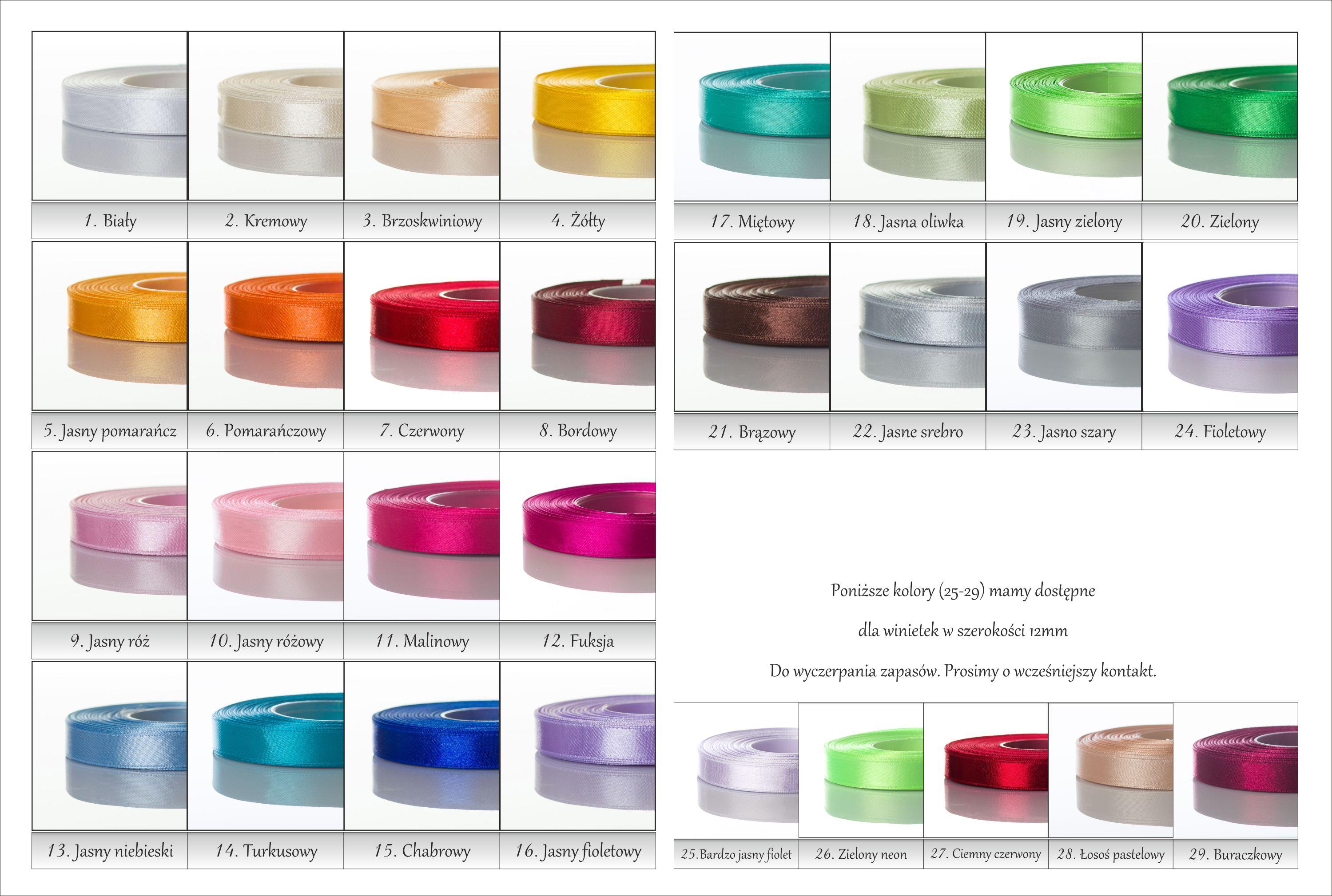 Wstążki nowe kolory